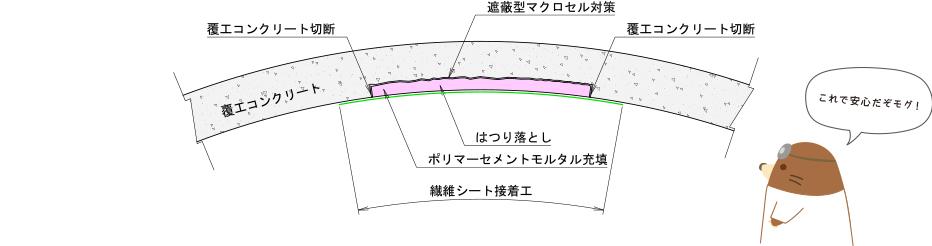 シビルアーチのトンネル点検